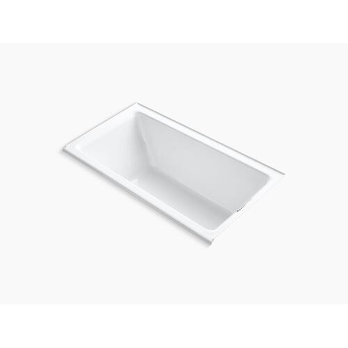 """Biscuit 66"""" X 36"""" Alcove Bath With Integral Flange and Right-hand Drain"""