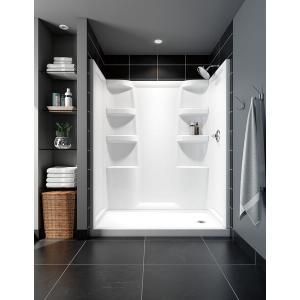 Delta Faucet Company - White ProCrylic 60 in. x 32 in. Shower Surround