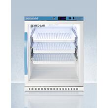 See Details - Performance Series Med-lab 6 CU.FT. Freestanding Glass Door ADA Height All-refrigerator With Three Ventilated Removable Drawers, With Antimicrobial Silver Ion Handle and Hospital Grade Cord With 'green Dot' Plug