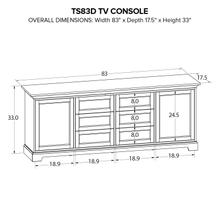 TS83D Custom TV Console