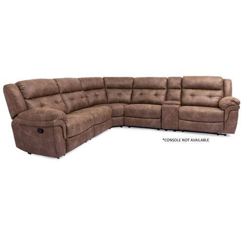 "5156 DENALI: Armless Chair Manual in Brown XW5156M-D1.5(8"")"
