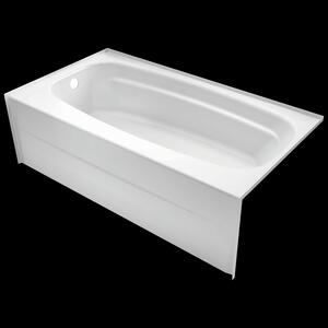 "High Gloss White 54"" x 30"" Bathtub - Left Drain Product Image"