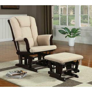 Chenille Rocking Accent Chair w/ Ottoman