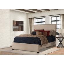 Megan King Bed - Sandstone Linen