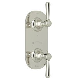 Verona 1/2 Inch Thermostatic and Diverter Control Trim - Polished Nickel with Metal Lever Handle