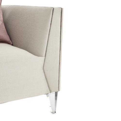 Amini - Matching Chair Metallic Silvermist
