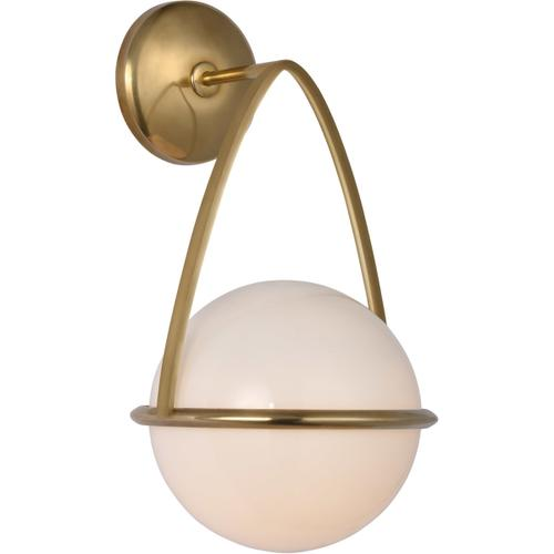 AERIN Lisette LED 8 inch Hand-Rubbed Antique Brass Bracketed Sconce Wall Light