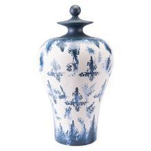 Large Mar Temple Jar Blue & White