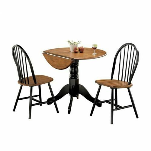 ACME Mason 3Pc Pack Dining Set - 00878 - Cherry & Black