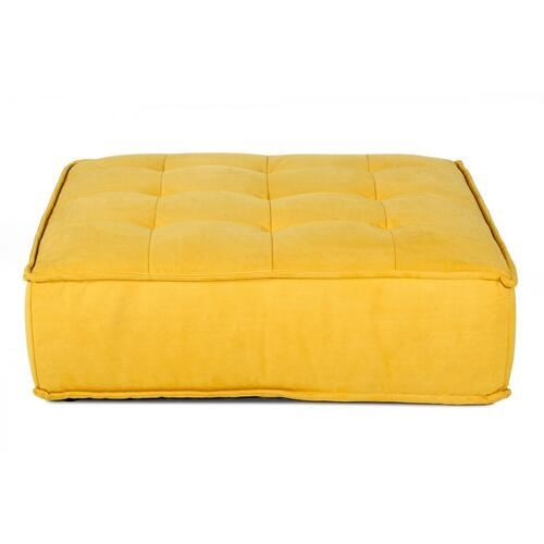 VIG Furniture - Divani Casa Nolden - Waterproof Yellow Fabric Ottoman