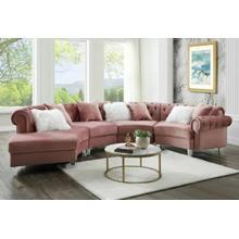 ACME Sectional Sofa w/7 Pillows - 57360