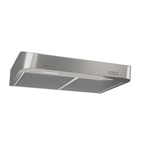 Broan® 30-Inch Convertible Under-Cabinet Range Hood w/ Easy Install System, 250 CFM, Stainless Steel