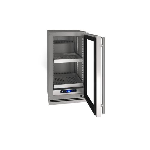 """18"""" Refrigerator With Stainless Solid Finish (115 V/ 60 Hz Volts / 60 Hz Hz)"""