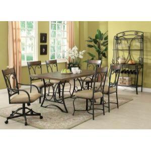 Acme Furniture Inc - ACME Kiele Dining Table - 71125 - Oak & Antique Black