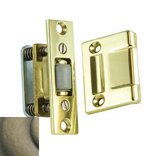Satin Brass and Black Roller Latch