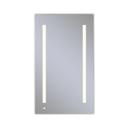 """Aio 23-1/4"""" X 40"""" X 4"""" Single Door Lighted Cabinet With Lum LED Lighting In Soft White (2700k), Dimmable, Built-in Om Audio, Interior Lighting, Electrical Outlet, Usb Charging Ports, Magnetic Storage Strip and Right Hinge"""