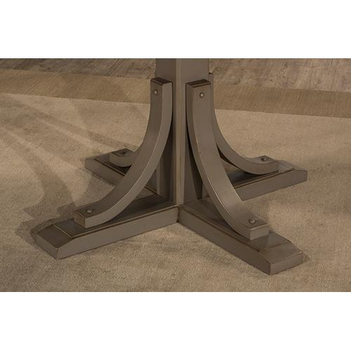 Gallery - Clarion Round Dining Table - Pedestal Base - Ctn B - Distressed Gray (need To Order Top)