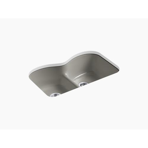 """Cashmere 33"""" X 22"""" X 9-5/8"""" Smart Divide Undermount Double-equal Kitchen Sink With 6 Oversize Faucet Holes"""