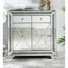 ACME Noralie Console Table - 97645 - Mirrored & Faux Diamonds