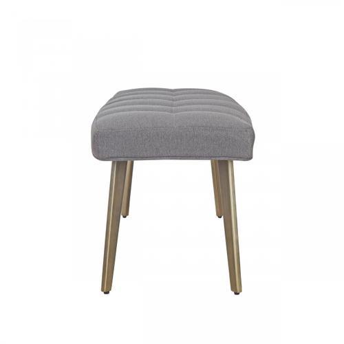 VIG Furniture - Modrest Cici - Contemporary Grey & Antique Brass Bench