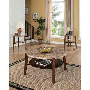 ACME Nadav 3Pc Pack Coffee/End Table Set - 80083 - Faux Marble