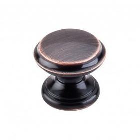 Flat Top Knob 1 3/8 Inch - Tuscan Bronze