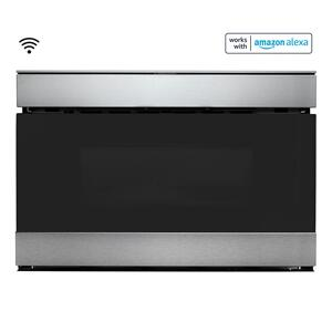 Sharp Appliances24 in. 1.2 cu. ft. 950W Sharp Stainless Steel Smart Easy Wave Open Microwave Drawer Oven