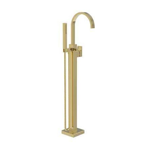 Newport Brass - Polished Gold - PVD Exposed Tub and Hand Shower Set - Free Standing