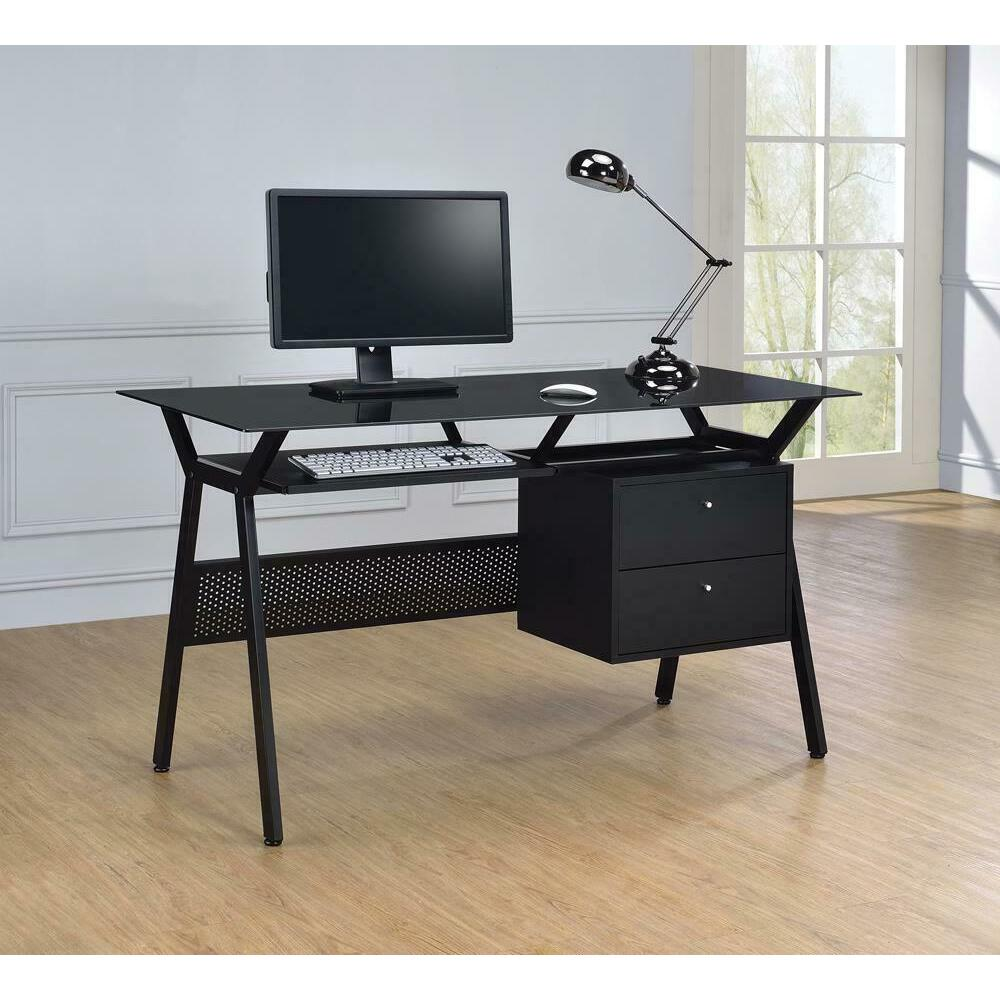 Casual Black Computer Desk