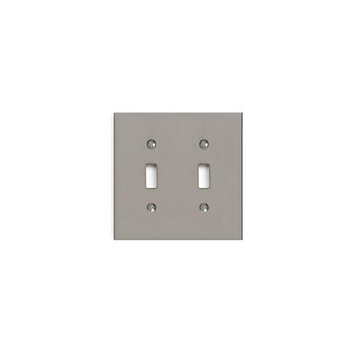 Almond Gold Modern Double Switch Plate