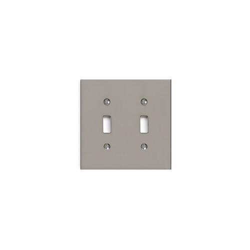 Flemish Patina Modern Double Switch Plate