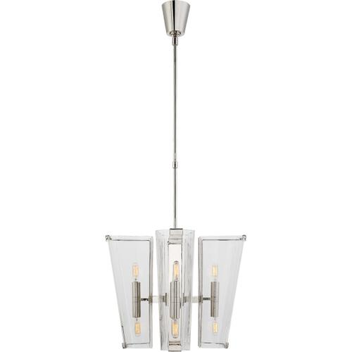Visual Comfort - AERIN Alpine 8 Light 20 inch Polished Nickel Chandelier Ceiling Light in Clear Glass, Small