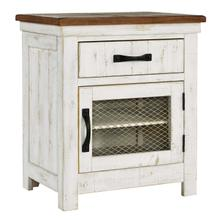 Wystfield One Drawer Night Stand White/Brown