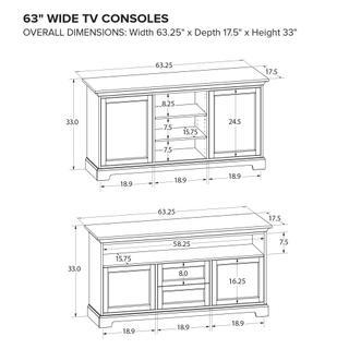 See Details - Howard Miller Custom TV Console TS63E