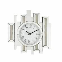 ACME Lavina Wall Clock - 97728 - Glam - Mirror, Glass, MDF, Faux Diamonds (Acrylic) - Mirrored and Faux Diamonds
