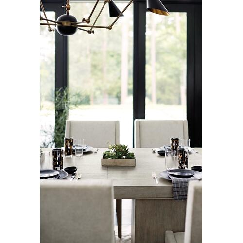 Linea Rectangular Dining Table in Cerused Greige (384)