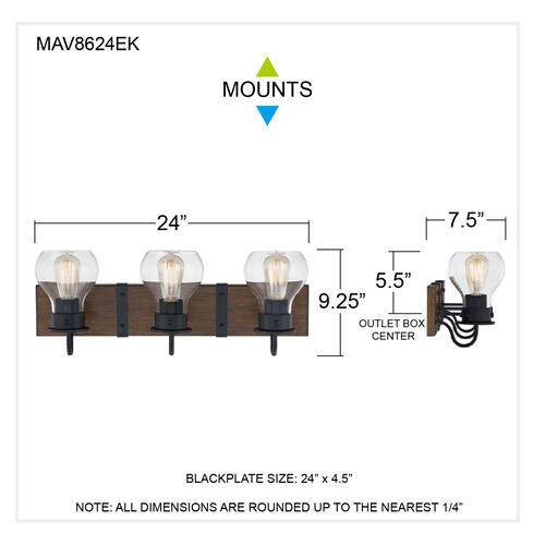 Quoizel - Maverick Bath Light in Earth Black