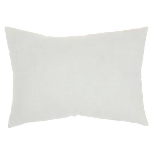 """Kathy Ireland Pillow L2112 White 14"""" X 20"""" Throw Pillow"""