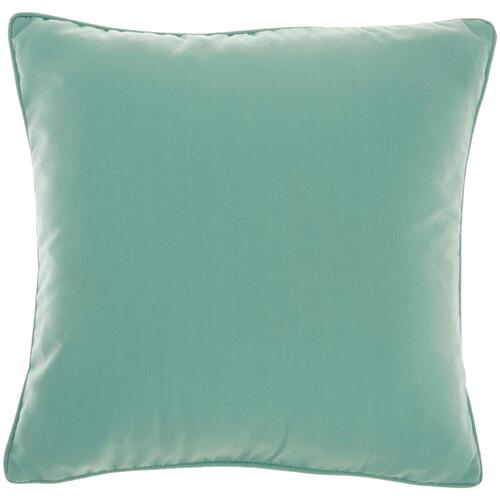 "Outdoor Pillows L9090 Aqua 18"" X 18"" Throw Pillow"