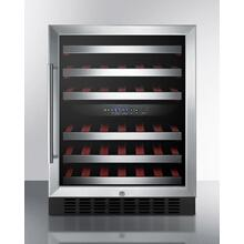 Dual Zone Built-in Commercially Approved Wine Cellar Designed for the Display and Refrigeration of Beverages, With Digital Thermostat, Stainless Steel Trimmed Shelves and Black Cabinet; Replaces Swc530lbist