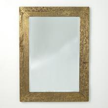 See Details - Timber Mirror-Brass