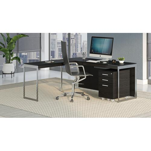 BDI Furniture - Sequel 20 6107 Mobile File Cabinet in Charcoal Stained Ash
