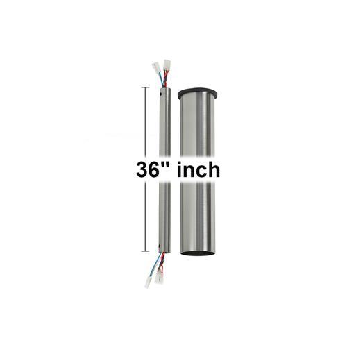 """36"""" Minimalist Downrod - Brushed Steel"""