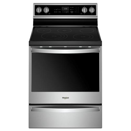 Whirlpool Canada - 6.4 Cu. Ft. Smart Freestanding Electric Range with Frozen Bake™ Technology