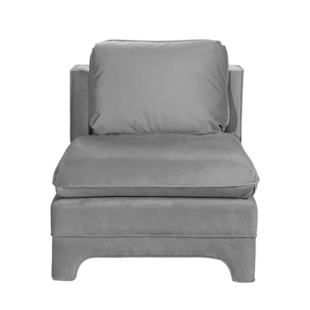 Designed Originally In Victorian Times for Ladies To Easily Put On Their Shoes, the Slipper Chair Is A Classic Addition To Any Room. Our Lovely Ansonia Slipper Chair Is Upholstered In Grey Velvet With A Coordinating Welt That Gracefully Follows Every Curve of This Tailored Accent CHAIR.