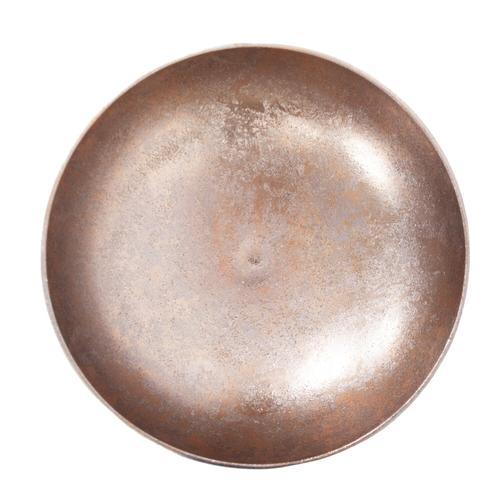 Howard Elliott - Aluminum Footed Bowl in Antiqued Gold, Large