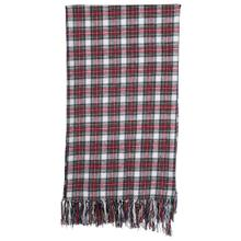 """Product Image - 60""""L x 50""""W Brushed Cotton Throw w/ Fringe, Red & Green Plaid"""