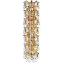 AERIN Liscia 3 Light 6 inch Gild Sconce Wall Light