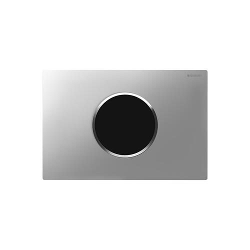 Sigma10 Flush plates for Sigma series in-wall toilet systems Matte chrome with polished chrome accent Finish 2x6 in-wall system Compatibility