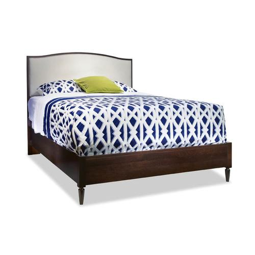 Queen Upholstered Arch Top Bed